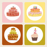 Cake icons Stock Photo