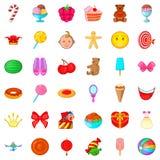 Cake icons set, cartoon style. Cake icons set. Cartoon style of 36 cake vector icons for web isolated on white background Royalty Free Stock Images