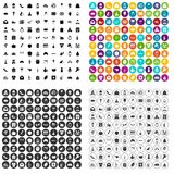 100 cake icons set vector variant. 100 cake icons set vector in 4 variant for any web design isolated on white Stock Images