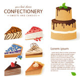 Cake icons Royalty Free Stock Image