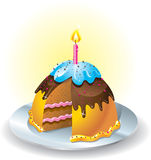 Cake illustration. Sweet cake  graphic illustration Royalty Free Stock Images