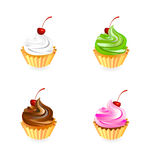 Cake illustration. Illustration of cup cake collection Stock Photography