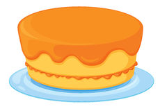 A cake. Illustration of an isolated a cake on a white background Royalty Free Stock Images