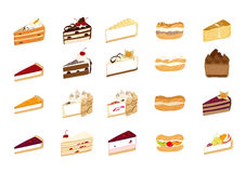 Cake illustrations Royalty Free Stock Image