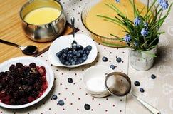Cake ingredients Royalty Free Stock Images