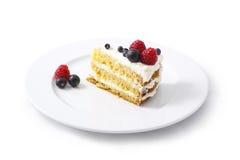 Cake. Isolated on white background Stock Images