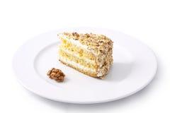 Cake. Isolated on white background Stock Photography