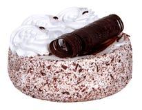 Cake isolated on  white background. Cake With Chocolate, Fruit And Cream. Stock Images