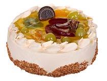 Cake isolated on  white background. Cake With Chocolate, Fruit And Cream. Stock Photos