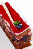 Cake with jam Stock Photography