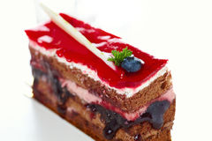 Cake with jam a Stock Images