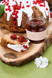 Cake and jam Royalty Free Stock Photography