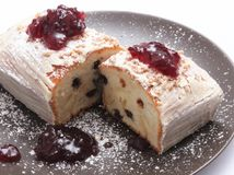 Cake with jam Royalty Free Stock Images