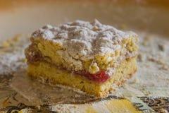 Cake with jam Stock Image