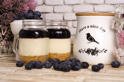 Cake In Jar blueberry Stock Image