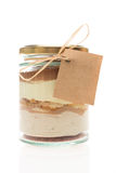 Cake in a jar Royalty Free Stock Images
