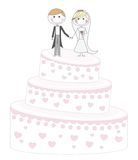 Cake just married Royalty Free Stock Image