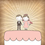 Cake just married Royalty Free Stock Photos