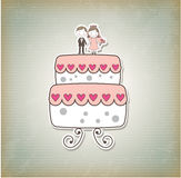 Cake just married Royalty Free Stock Images