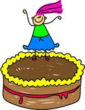 Cake kid royalty free illustration