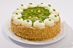Cake with kiwi Royalty Free Stock Photography