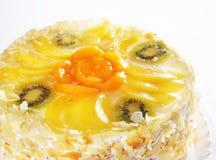 Cake with kiwi fruit Stock Images