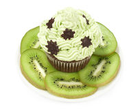 Cake with kiwi fruit Royalty Free Stock Photos