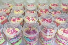 Cake in Kop Royalty-vrije Stock Foto's