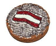 Cake with Latvia flag Royalty Free Stock Images