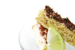 Cake and lemon Royalty Free Stock Image