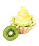 Cake with lemon cream and kiwi Royalty Free Stock Image