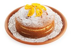 Cake with lemon powder Stock Photo