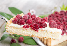 Cake lifter with Raspberry Tart Royalty Free Stock Photo