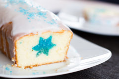 Cake loaf with star decoration Royalty Free Stock Image