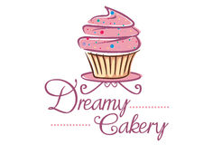 Cake Logo. Logo for cake shop, or anything related to cake Royalty Free Stock Images
