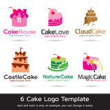 Cake Logo Template Design Vector. This design suitable for logo and icon Stock Image