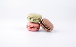 Cake macaron isolated on white background, sweet and colorful dessert Royalty Free Stock Images