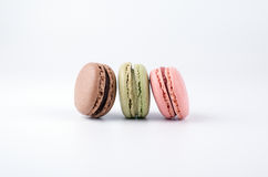 Cake macaron isolated on white background, sweet and colorful dessert Stock Image