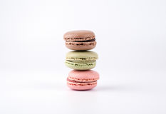 Cake macaron isolated on white background, sweet and colorful dessert Royalty Free Stock Photo