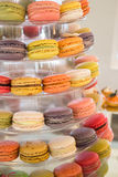 Cake macaron, macaroon or colorful almond cookies Stock Image