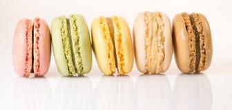 Cake macaron or macaroon isolated on white background, sweet Stock Images