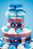 Cake made from diapers Royalty Free Stock Images