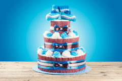 Cake made from diapers Stock Images