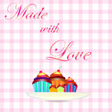 Cake made with love Royalty Free Stock Photo