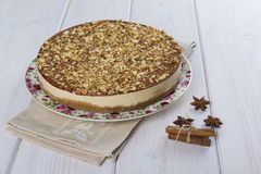Cake made of turron and almond Stock Photography
