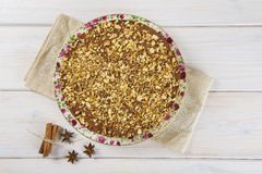 Cake made of turron and almond Stock Photo