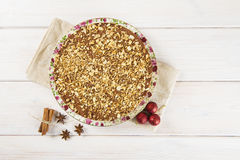 Cake made of turron and almond Stock Image