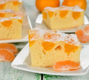 Cake with mandarin oranges Royalty Free Stock Image