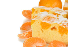Cake with mandarin oranges Royalty Free Stock Images