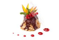 Cake with mango Stock Photography